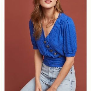 Anthropologie Maeve Madelyn Wrap Top